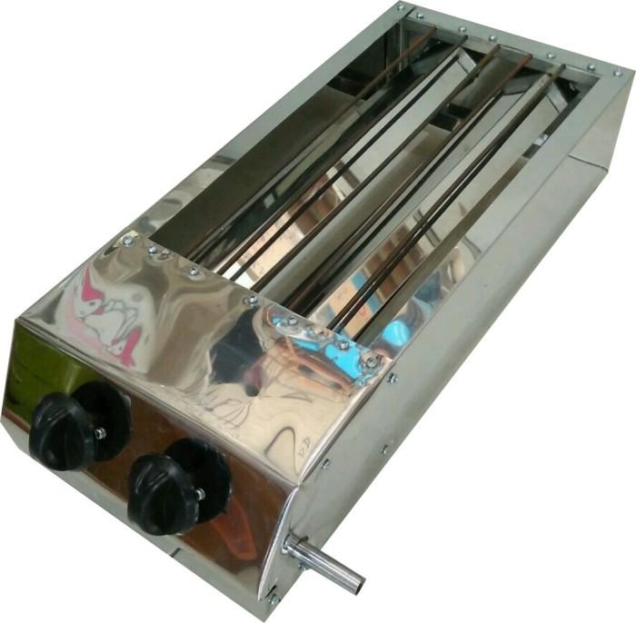 harga Panggangan bakaran gas sate sosis ikan ayam 35 x 20 cm stainless Tokopedia.com