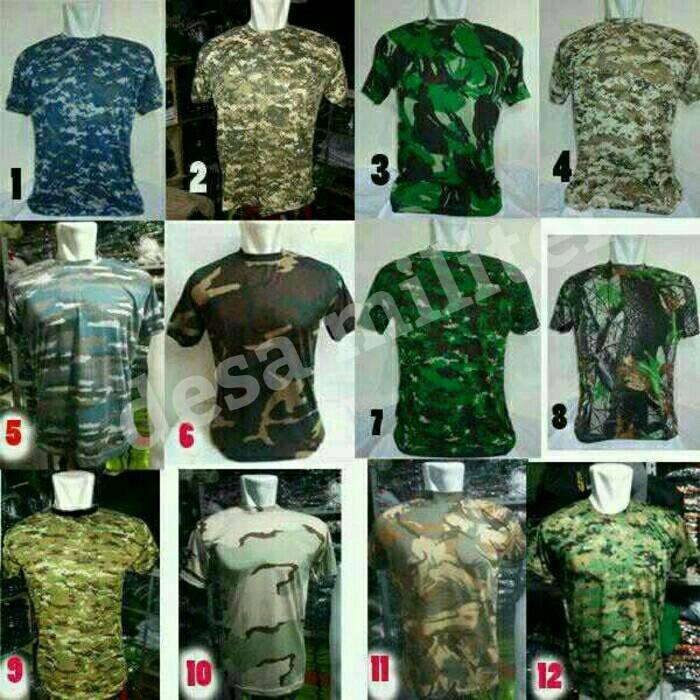 harga Kaos loreng tactical/kaos pendek army/perbakin/airsoft/polisi/tni/camo Tokopedia.com