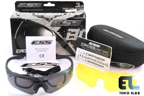 harga Kacamata Ess Crossbow 3ls Kit Hitam Blanja.com
