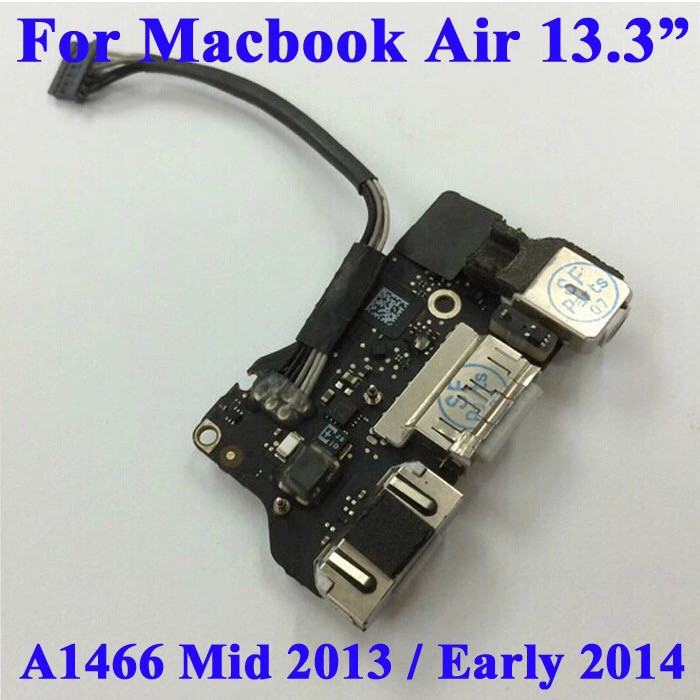 "Audio DC Power Board Flex Cable Part for Apple Macbook Air 13/""A1466 MD761"