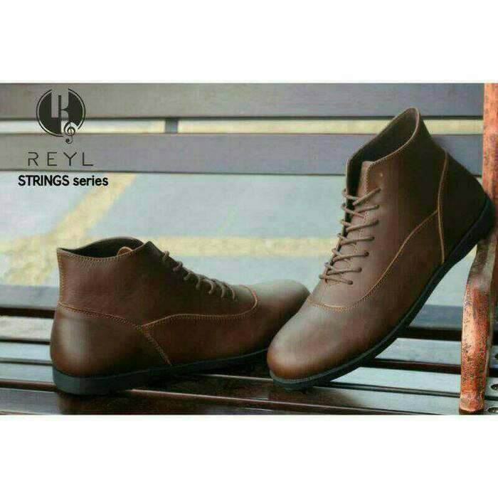 Jual Sepatu boots pria terbaru kulit asli model brodo murah branded ... 41223b1e88