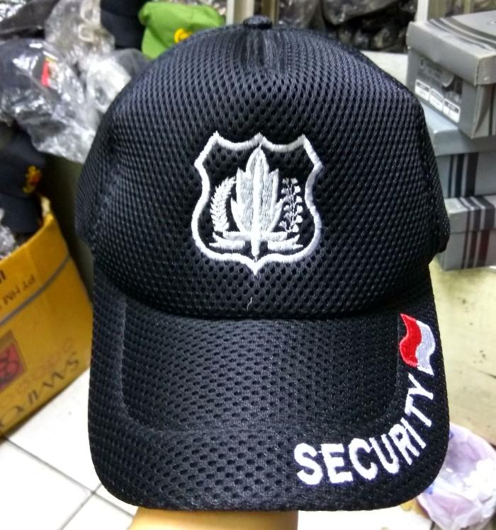 TOPI SECURITY   TOPI SATPAM WARNA HITAM - BAHAN JARING 0b91a73de2