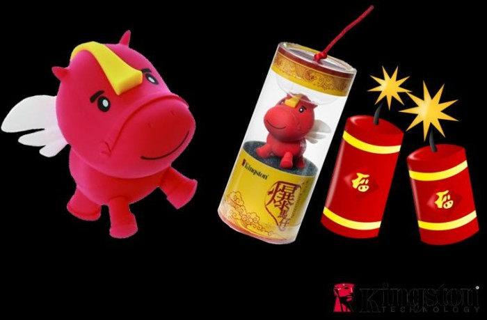 harga Kingston dtcny14 flying horse limited edition usb drive 16gb - merah Tokopedia.com