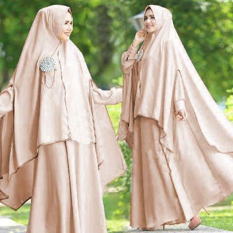 harga [syari zulfa cream sw] pakaian muslim wanita jersey cream Tokopedia.com