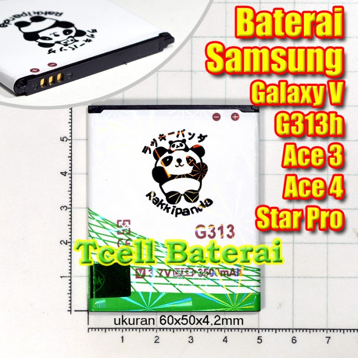 Baterai Samsung Galaxy V G313 z2 z200 Ace3 s7270 J1 mini Rakkipanda