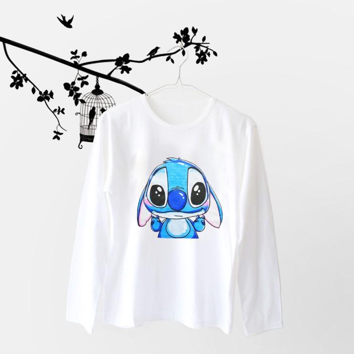 Foto Produk Tumblr Tee / T-Shirt / Kaos Wanita Lengan Panjang Lilo Peace Putih dari Ellipses.inc