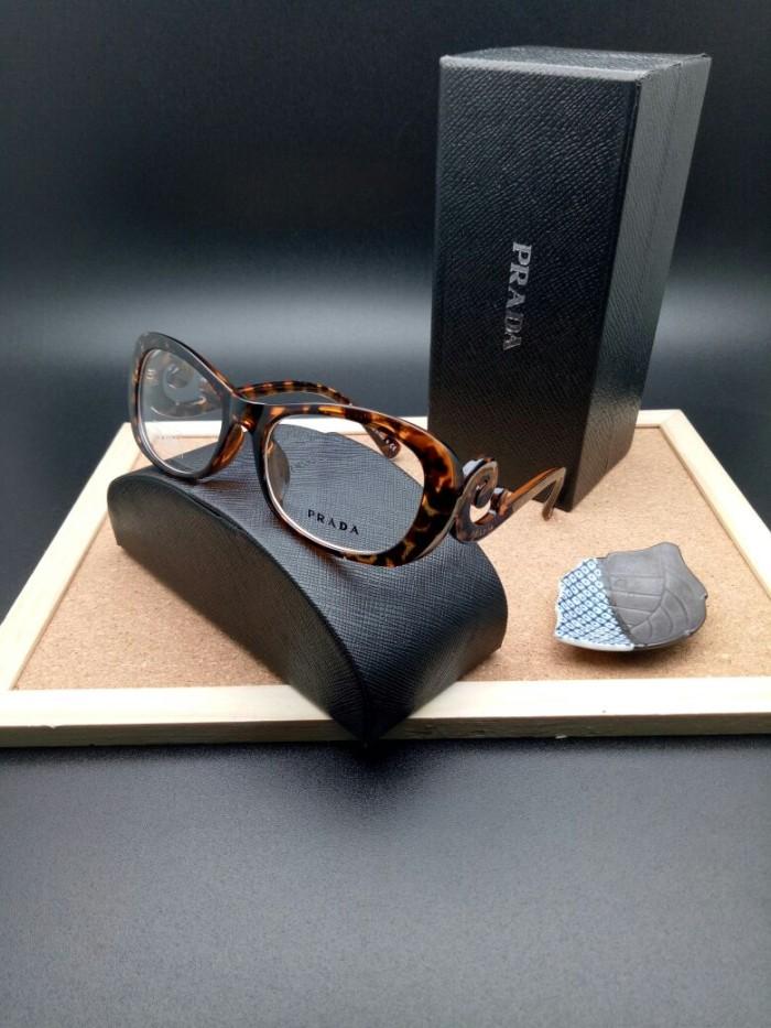 Frame Kacamata Prada Keong Tortoise Frame Murah Kacamata Fashion Minus 1fe9921261
