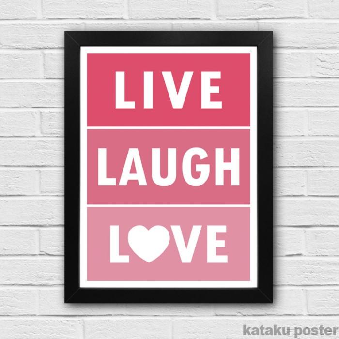 harga Poster inspiratif - live laugh love - pigura hiasan rumah Tokopedia.com