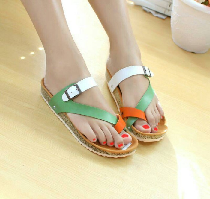 Sandal santai tali nafiza toska orange nfz-05