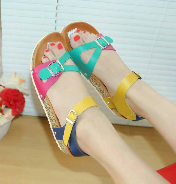 Sandal santai tali nafiza tosca pink nfz-01