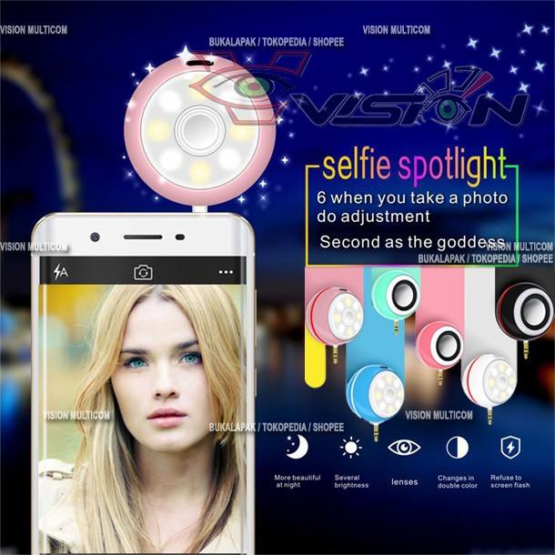 harga Mini selfie light speaker | adjustable flashes light beauty spotlight Tokopedia.com