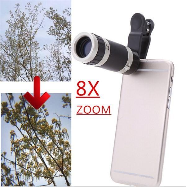 harga Lensa telezoom 8x clip kamera lensa telezoom jepit universal Tokopedia.com