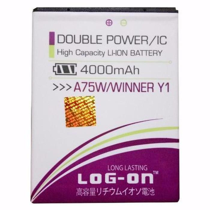 harga Baterai evercoss a75w winner y1 double power merk log on original Tokopedia.com