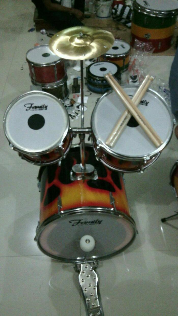 harga Drumset mini 16  (sner-tam-bas-simbal-kick drum) ring chrom Tokopedia.com