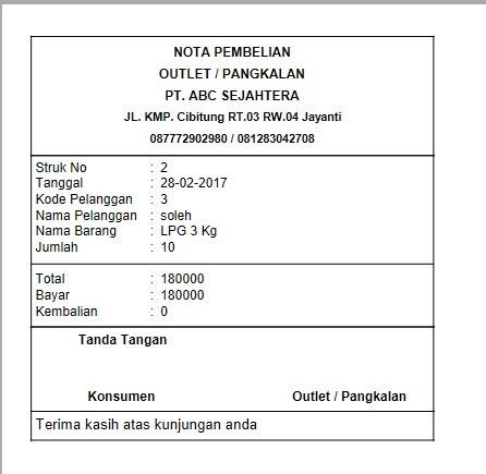 Jual Software Penjualan Agen Gas Lpg Kota Bekasi Jasa Progrmmer Tokopedia