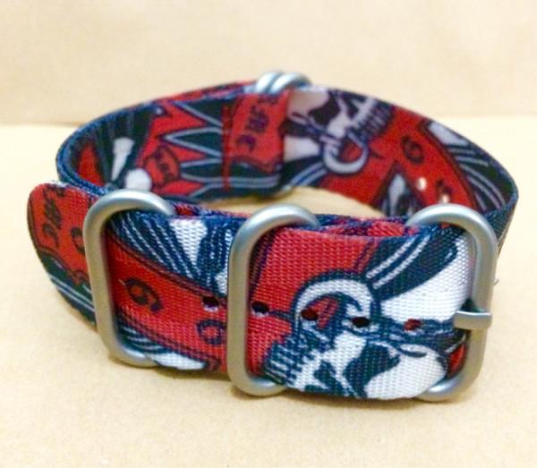 harga Zulu strap 24mm 5 silver rings red skull Tokopedia.com