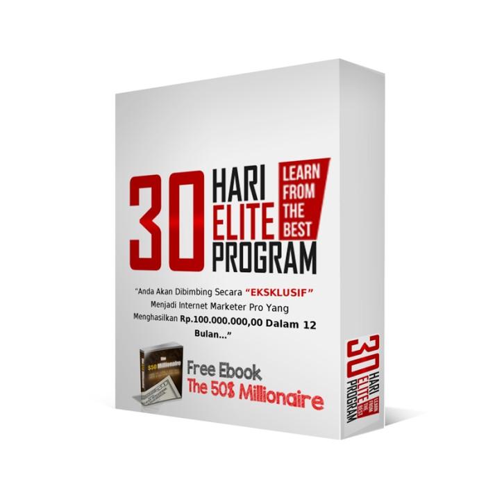 harga 30 hari elite program | cara mudah raih 100 juta pertama + mega bonus Tokopedia.com