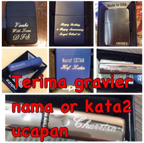 harga Tambah gravier nama or kata2 u/ zippo Tokopedia.com