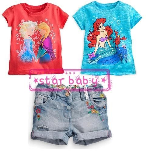 Foto Produk Baju Setelan Anak Jeans Frozen Ariel Set Distributor dari Tika Sarianda