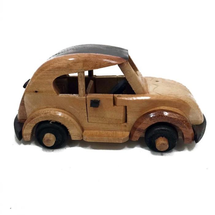 harga Original indonesian handmade woodcraft - miniatur kayu mobil kodok kun Tokopedia.com