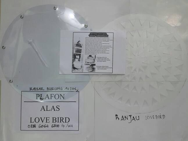 harga 1 paket plafon dan ranjau untuk sangkar lovebird Tokopedia.com