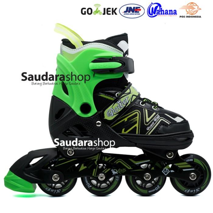 harga Power king sepaturoda inline roda full karet hijau   sepatu roda  Tokopedia.com 367baa6323