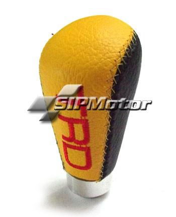 Foto Produk Gear Knob Mobil Manual Kulit Imitasi TRD Kuning Hitam dari SIPMotor