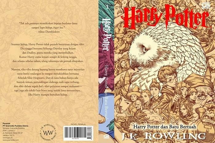 harga (cover baru) buku harry potter dan batu bertuah #1 . j.k. rowling Tokopedia.com