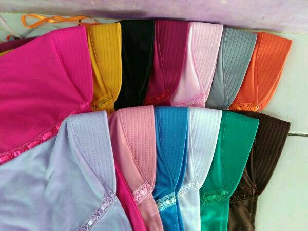 Foto Produk jilbab anak sekolah sd warna warni kaos dari Hijab ZzZ