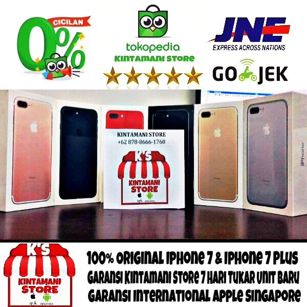 harga [best seller] iphone 256gb 7 plus rose gold bnib garansi resmi inter Tokopedia.com