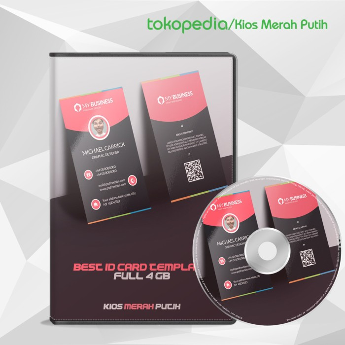 Jual Best Id Card Template Koleksi Kartu Nama Keren Lokal Amp