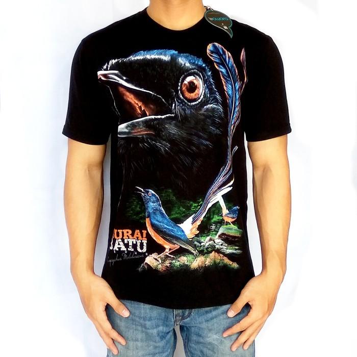 harga Bawara kaos burung kicau murai batu a premium hitam size l, m, s Tokopedia.com