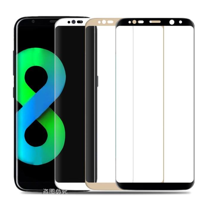 Samsung s8 full cover gold magic glass premium tempered glass