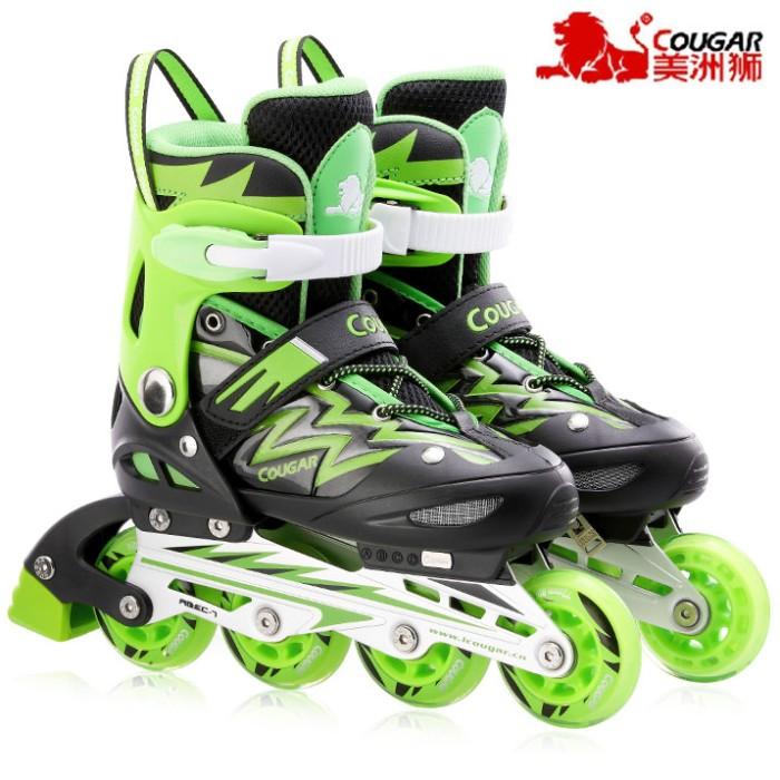 Jual Sepatu Roda COUGAR Inline Skate MZS835L Balck Green - Gudang ... 8b229f527d