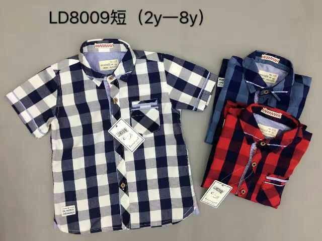 harga Baju anak cowok import branded kemeja kotak hitam putih merah boy supp Tokopedia.com