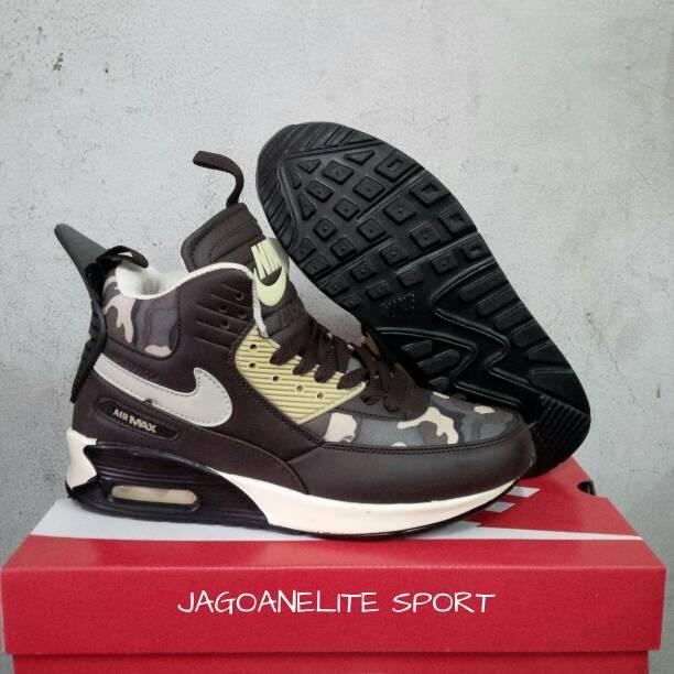 ... harga Sepatu basket pria nike airmax 90 sneakerboots coklat.  Tokopedia.com 72d3e67c55