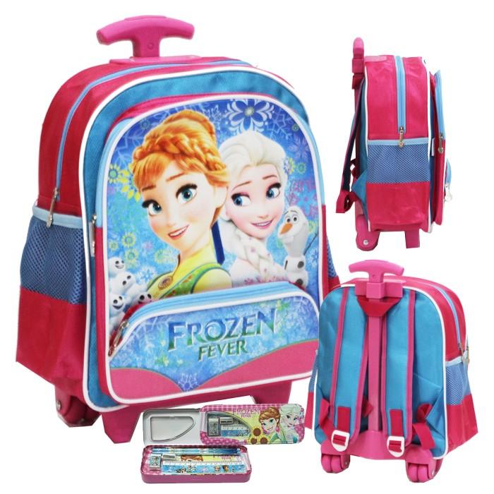 harga Tas trolley anak sekolah tk disney frozen + set kotak pensil Tokopedia.com