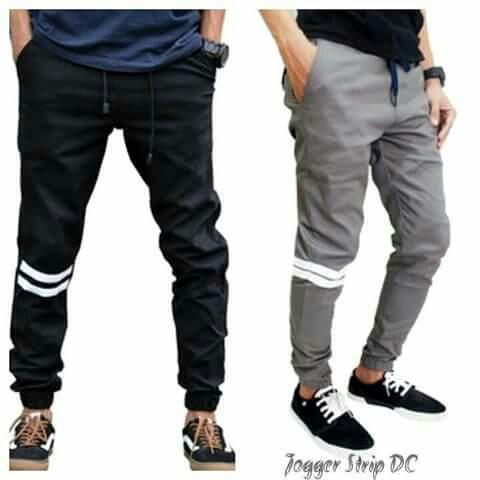 Celana jogger pants strip