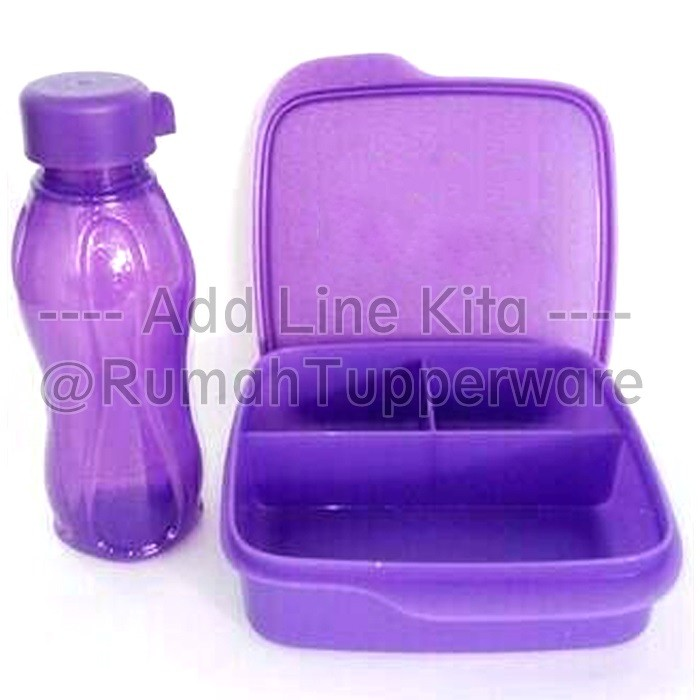 Tupperware Eco Lolly Glitter 1 set Ungu .