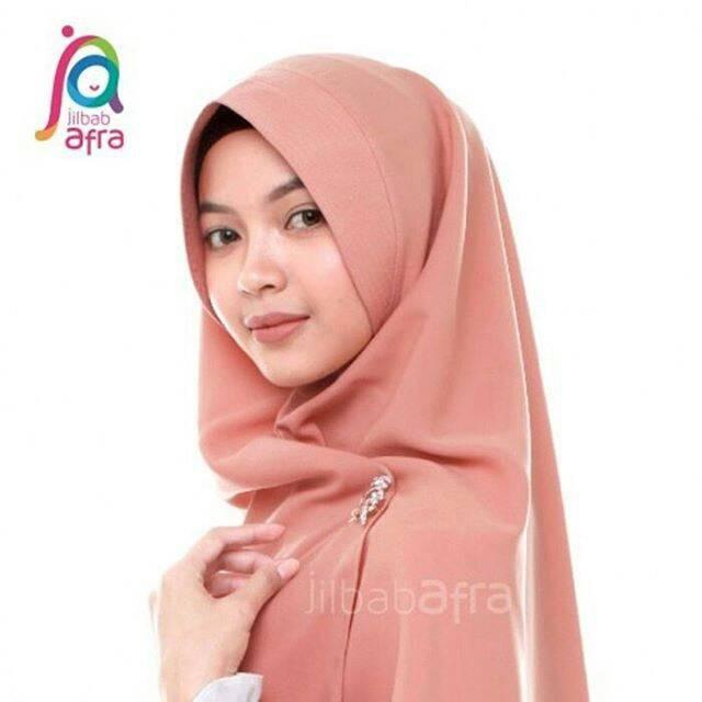 harga Khimar softped instan jilbab afra sofiya cinnamon Tokopedia.com