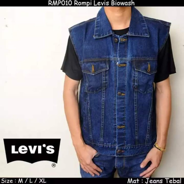... harga Jaket rompi jeans levis biruwash cowok pria biowash klasik murah  Tokopedia.com fe0c5fcf60