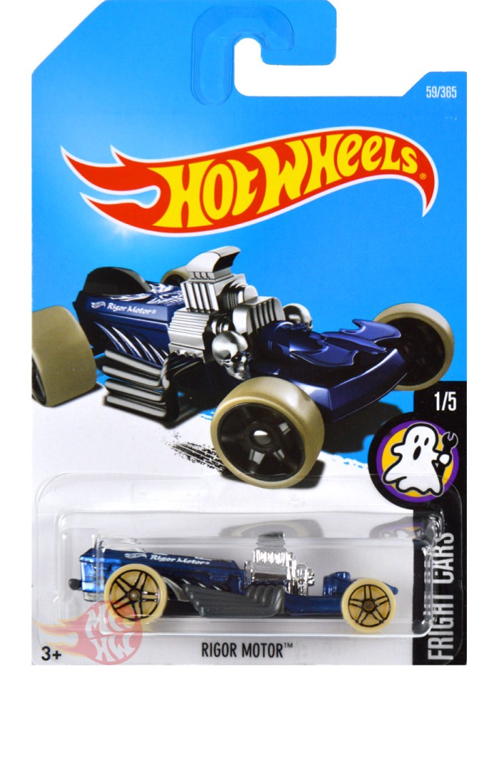 Rigor Motor BIRU / BLUE - Hot Wheels HW Hotwheels