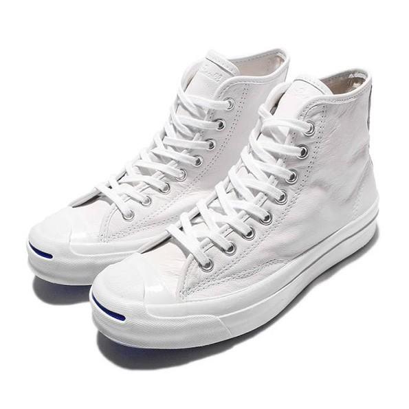 Jual Sepatu Converse Jack Purcell SIGNATURE Hi Leather White ... bbf8fb7d77