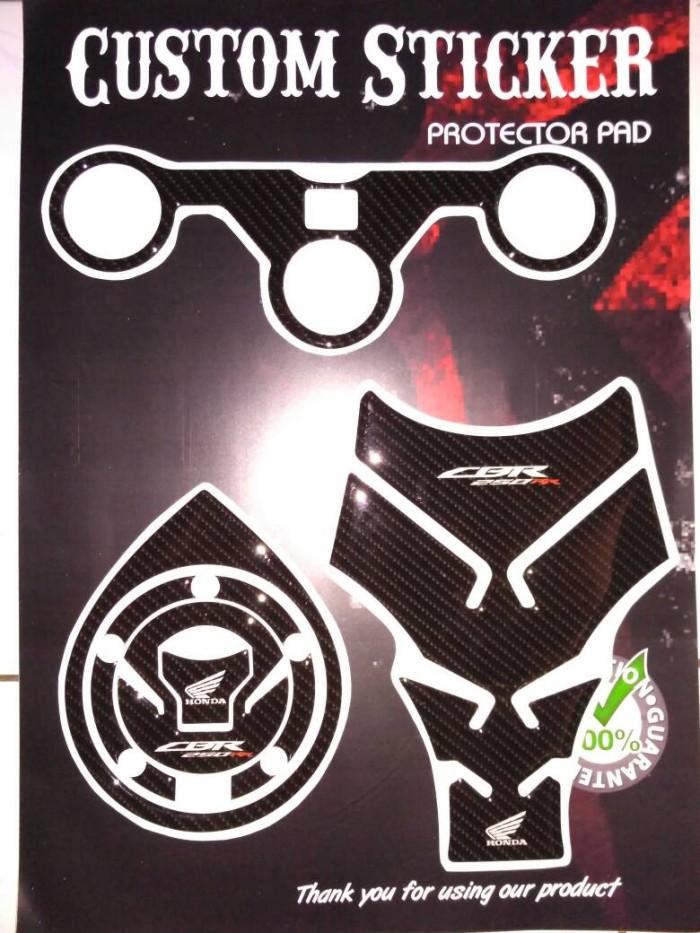 Foto Produk Stiker Timbul CBR 250 RR new FACELIFT Lengkap tankpad fuelpad segitiga dari Sticker Protector pad