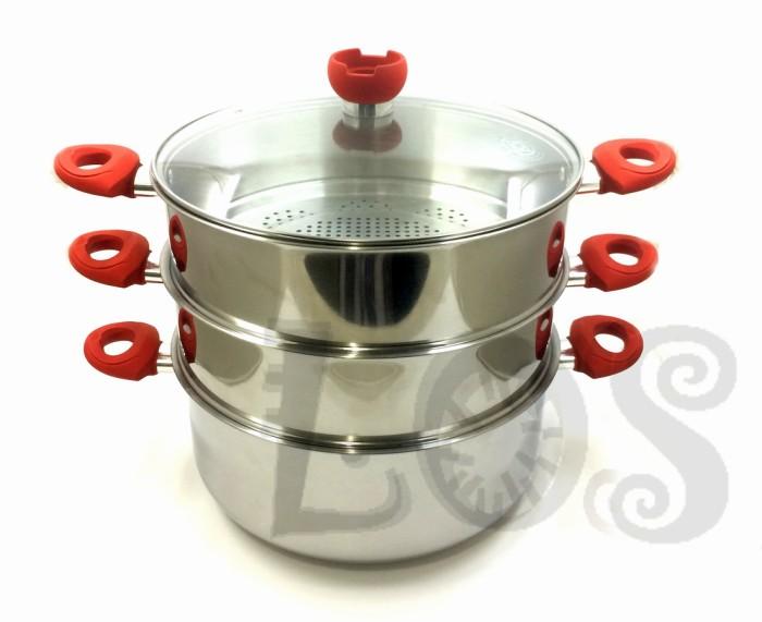 Panci kukus serbaguna supra 32cm susun 3 stainlees steel (00313.00001)