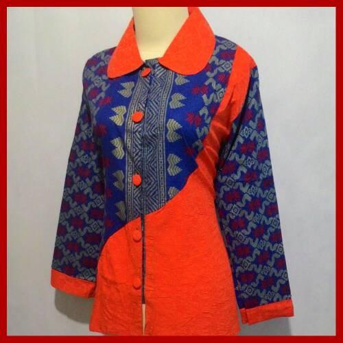 53 Contoh Baju Batik Kombinasi Wanita Paling Hist