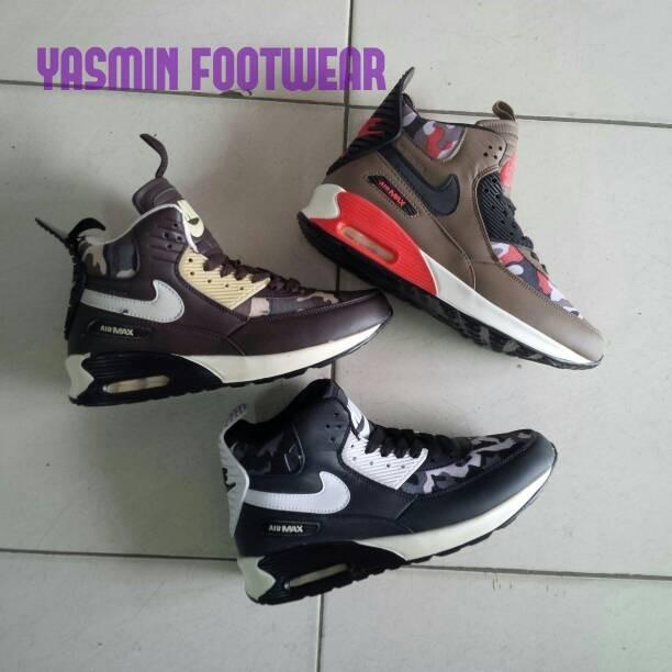 harga Sepatu boots pria nike airmax camo / army air max basket sneakerboots Tokopedia.com