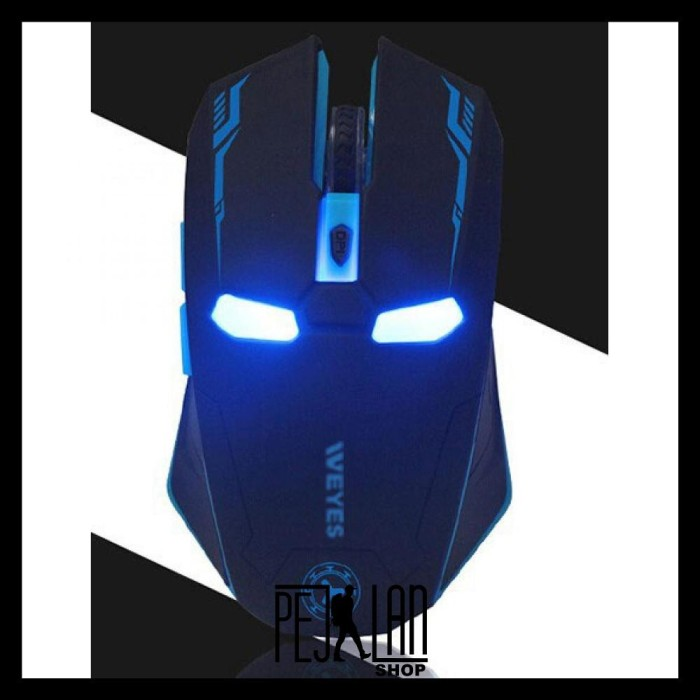 Foto Produk Mouse Gaming Weyes Iron Man Wireless Mute Button Silent Click 24Ghz dari Celsea Lina