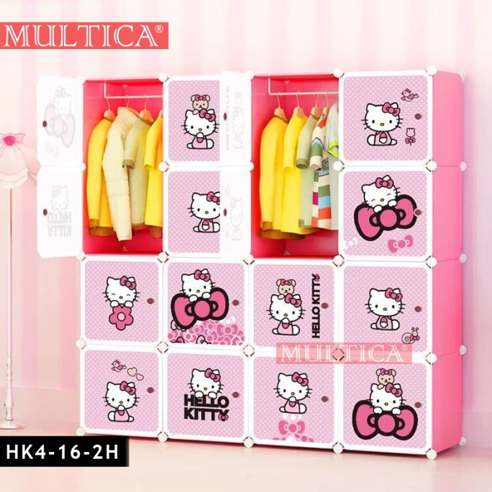 harga Multica wardrobe pakaian lemari baju plastik hello kitty Tokopedia.com