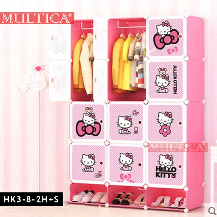harga Multica lemari diy baju tempat pakaian storage rak sepatu hello kitty Tokopedia.com